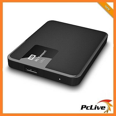 1TB Western Digital My Passport Ultra Portable Hard Drive USB 3 Black WD PC Mac