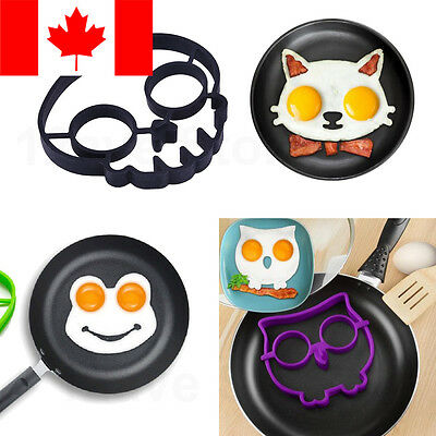 Breakfast Fried Egg Mold Silicone Pancake Eggs Ring Shaper Funny Cooking Tool