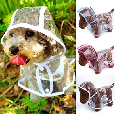 Pet Raincoat Dog Waterproof Polka Dotted See Trough Casual Pet Dogs Raincoats