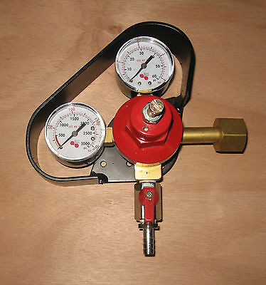 Micromatic CO2 Beer Regulator(0-60 PSI) with Guard, High & Low Pressure Gauges