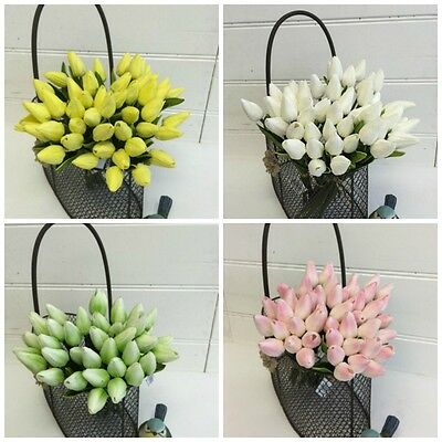 12pcs Artificial Fake Tulips Flower Bouquet Home Decor Bridal Wedding Party New