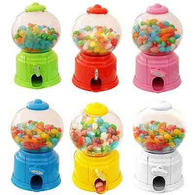 Sweets Mini Candy Machine Bubble Gumball Dispenser Coin Bank for Kids Children