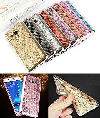 Luxury Glitter Bling TPU Soft Silicone Rubber Case Cover For Samsung Phone HK1