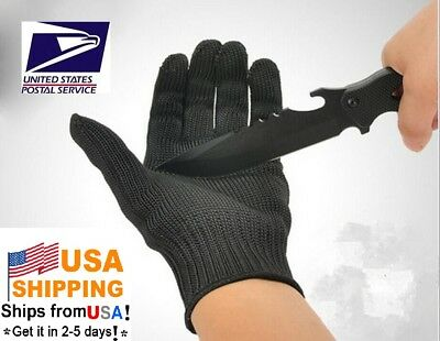 USA Stock! Working Protective Cut-Resistant Anti Abrasion Kevlar Gloves Black