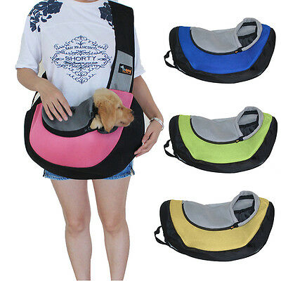 Sling Carrier Bag for Cat & Rabbit Small Dog Puppy Outdoor Bag for Pet 4 Colors