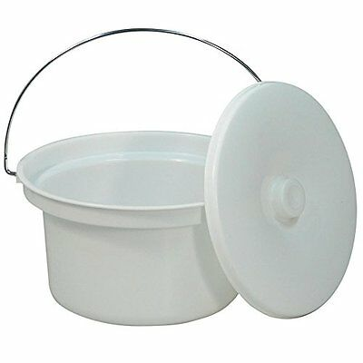 NRS Healthcare M11193 Commode Potty   Lid - Spare or Replacement Potty for Doved