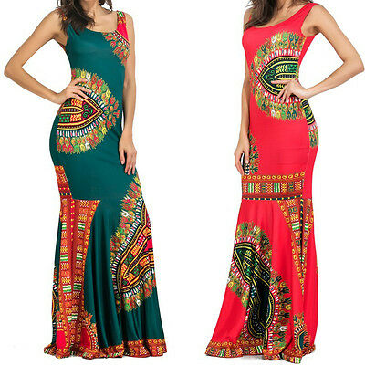 Boho Style Women Vintage Printing Long Maxi Dress Party Cocktail Evening Dresses