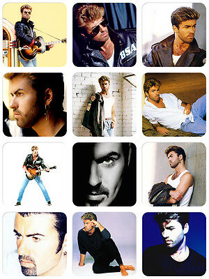 George Michael 12 x Stickers NEW Careless Whisper Faith Freedom Too Funky Older