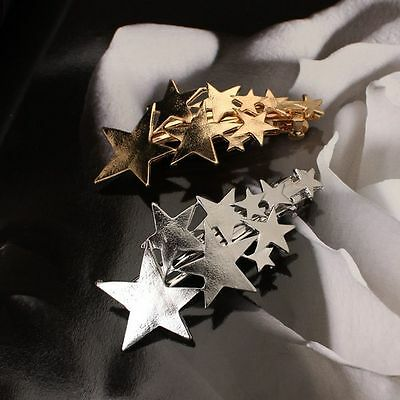 Gold/Silver Beauty Star Pin Gift Hairpin Clip For Girls Hair