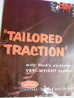 Vintage Ford Tractor  Advertising - Tractor Segment Weights - 1955