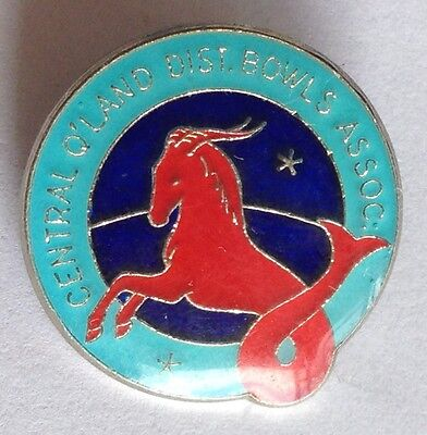Central Queensland District Bowling Club Badge Horse Fish Rare Vintage (M8)