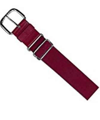 "Lot Of 9 All Star 1025 Ca Maroon Dark Red Youth Baseball Belt 1.25"" Elastic Belt"
