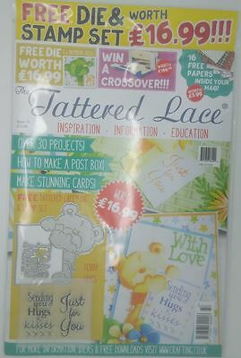 The Tattered Lace Magazine Issue 37 - Free Die & Stamp Set   Craft