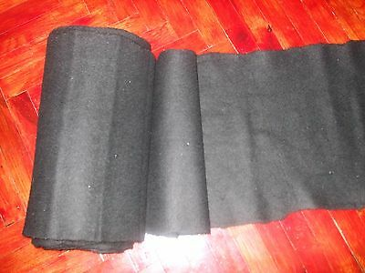 ANTIQUE 19th HOMESPUN FABRIC Wool MORE THAN 5 YARDS #UNUSED/ for folk costume
