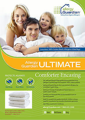 QUEEN QUILT Encasing 100% COTTON - Anti Dust Mite & Bed Bug Cover