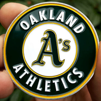 PREMIUM MLB Oakland Athletics A's Poker Card Protector Coin Golf Marker NEW