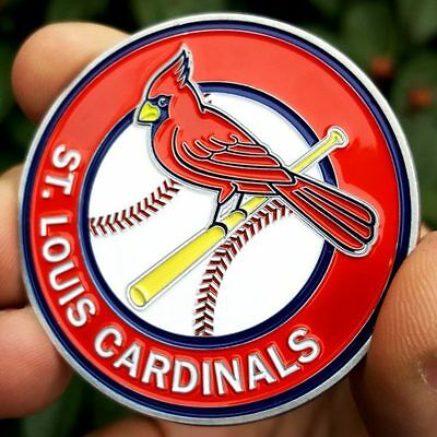 PREMIUM MLB St. Louis Cardinals Poker Card Protector Coin Golf Marker NEW