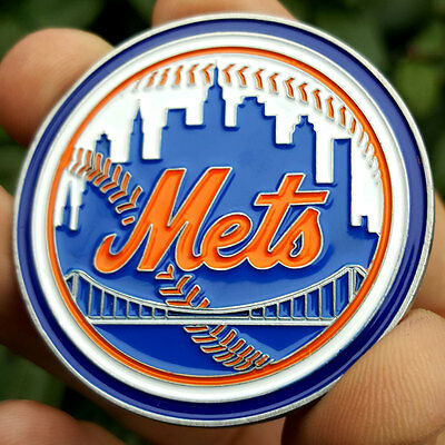 PREMIUM MLB New York Mets Poker Card Protector Collectors Coin Golf Marker NEW