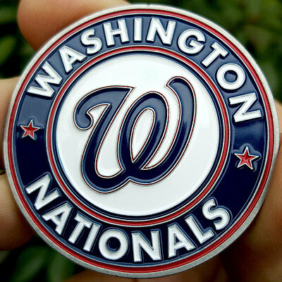 PREMIUM MLB Washington Nationals Poker Card Protector Coin Golf Marker NEW