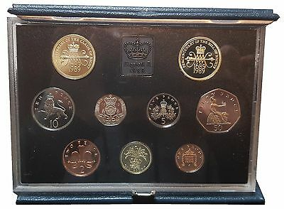1989 Royal Mint UK Proof Coin Collection Includes Claim of Rights Two Pound Coin