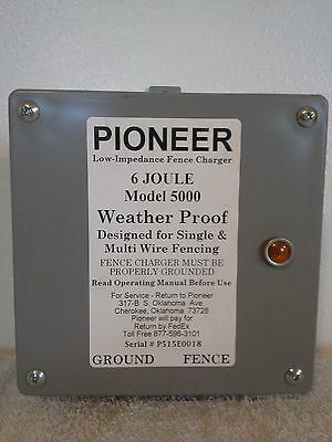 Pioneer Electric  Fence Charger, Energizer, Fencer