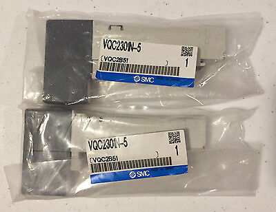 Smc Vqc2301N-5 Pneumatic Valve New Set Of 2