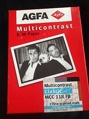 Afga Multicontrast Black & White MCC 118 FB Matt Photographic Paper 5 X 7