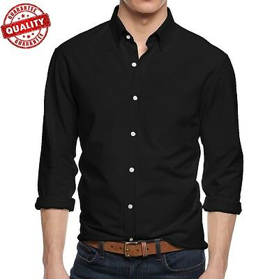 Mens Dress Shirts Long Sleeve Slim Fit Stretch Button Down Business