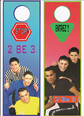 2 BE 3 FILIP NICOLIC  carte postale ENTREE / STOP a accrocher aux portes    2BE3
