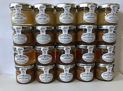 20 x Mixed Tiptree Honey, Salted Caramel Spread, Lemon Curd, Banoffee Spread