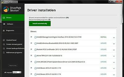 Driver pack 2016 automatic installation of drivers for Windows