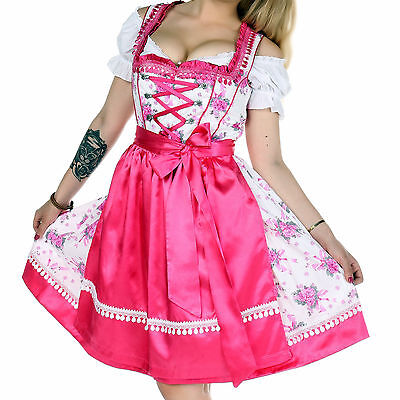 Germany,German,Trachten,May,Oktoberfest,Dirndl Dress,3-pc.Sz.4,Pink,Fuchsia...