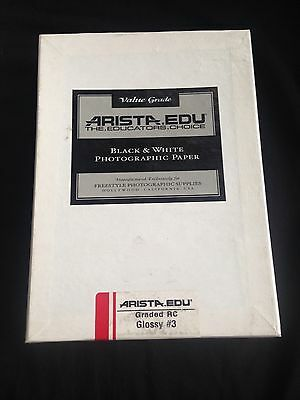 ARISTA EDU Black & White Photographic Paper Rc Glossy #3, 5X7, 100 Sheets