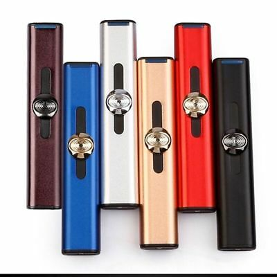 Mini Slim USB Electric Rechargeable Flameless Windproof Cigarette Lighter UK