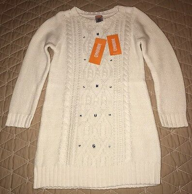 Gymboree Girls Ivory Cable Knit Long Sleeve Sweater / Sweater Dress Size 5 - NWT