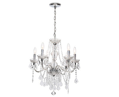Chrome Chandelier Light Hanging Ceiling Lighting Fixture Antique Vintage Style