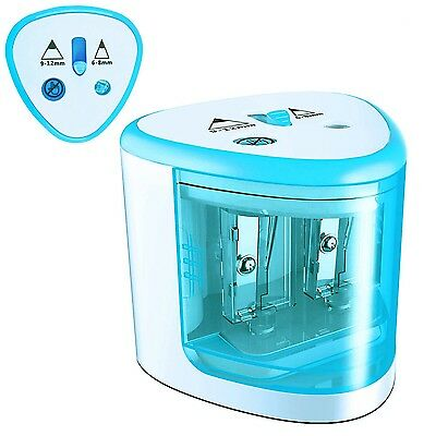 Best Battery Operated Automatic Pencil Sharpener Kids Students Artists Blue Arts