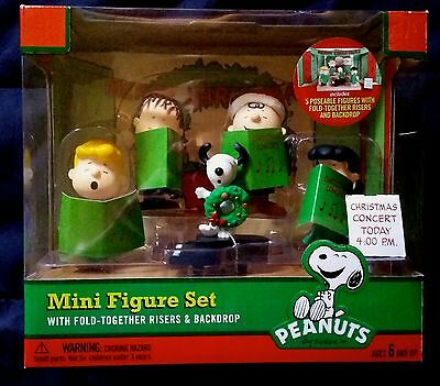PEANUTS Christmas Concert Mini Figure Set (Charlie Brown, Snoopy) NEW/SEALED