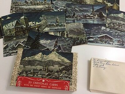 Vintage Box Christmas Cards with Finest Views of Germany Ernst Geissendorfer