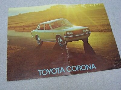 Vintage Toyota Corona Advertising Brochure Pamphlet