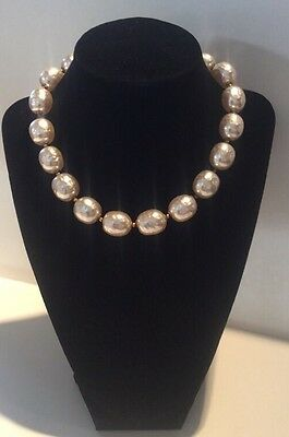 2fbaa417c60e5 ANTIQUE EARLY MIRIAM HASKELL Baroque Pearls Necklace Medallion ...