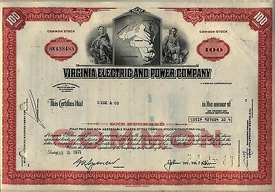 Virginia Electric & Power Company Stock Certificate