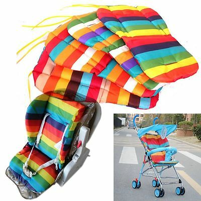 Toddle Chair Carriage Mat Car Seat Kids Rainbow Pads Baby Stroller Cushion