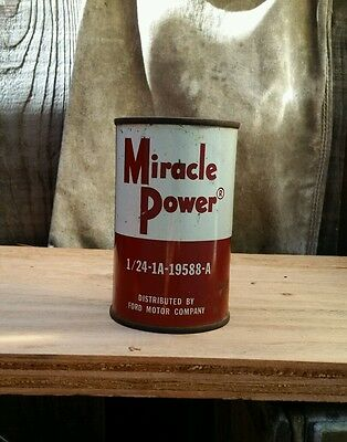 Full Vintage Miracle Power 8oz Oil Can Ford Motor Company