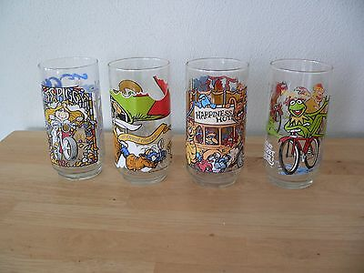 The Great Muppet Caper Drinking Glasses 1981 McDonald's Set of 4