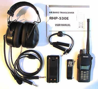 Rexon RHP-530 Ultralight Aircraft Radio+headset package for Solo - Single seater