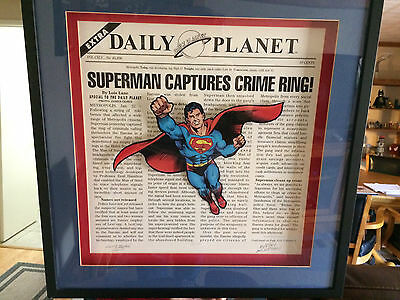 curt swan lithograph shadow box signed