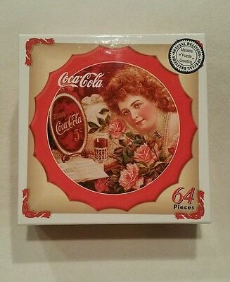 Coca Cola Bottle Cap Shaped Mini-Jigsaw Puzzle - 1999 Drink Coca Cola