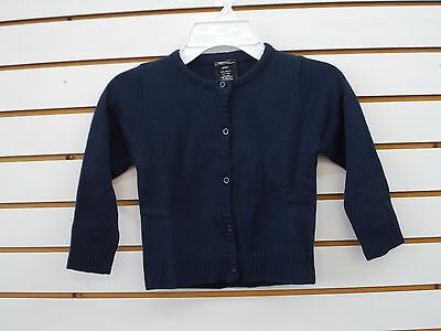 Toddler Girls Navy Cardigan Sweaters Sizes 2T - 5T