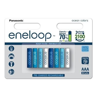 8x AAA Panasonic Eneloop Ocean Limited Color Edition BL196 PL